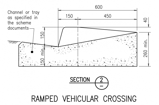 Ramped Vehicular Crossing - Section 2