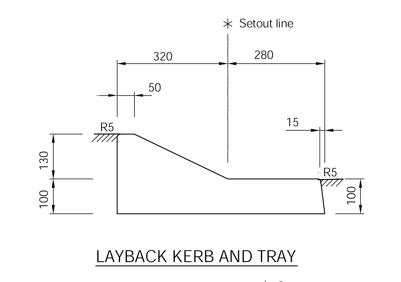 Layback Kerb and Tray