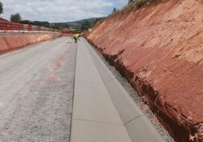 Main Roads Shoulder Drain Atherton Tablelands